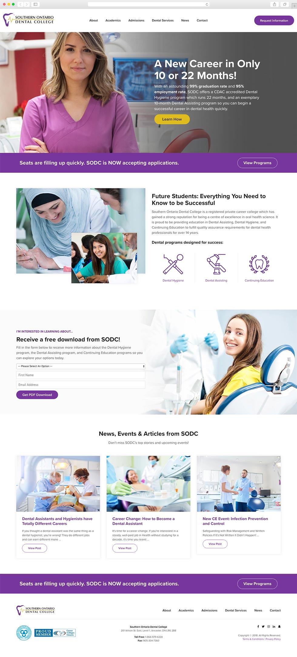Dental College Website